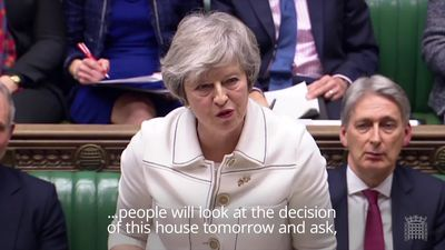 Theresa May makes final plea to MPs for Brexit deal support