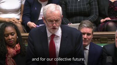 Jeremy Corbyn makes his closing speech before crunch Brexit vote