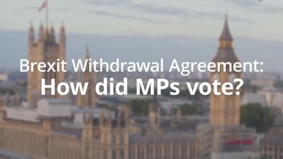 Brexit Withdrawal Agreement: How did MPs vote?