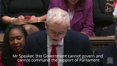 Jeremy Corbyn and Theresa May debate the no confidence motion in the Commons