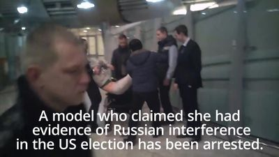 Arrest of model after claims of Russian interference in US election