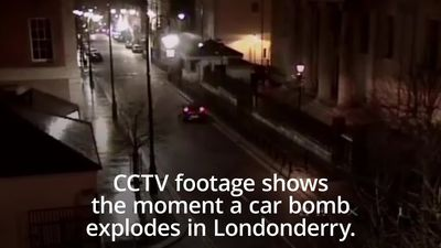 CCTV shows car bomb explosion in Londonderry