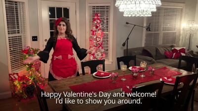 Valentine's Day addict spends GBP3,800 on decorating her home