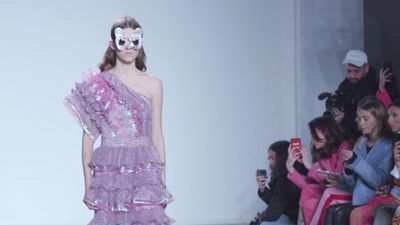 London Fashion Week: Models take to the catwalk for Bora Aksu