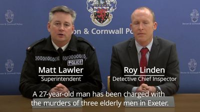Man charged with murdering three pensioners in Exeter