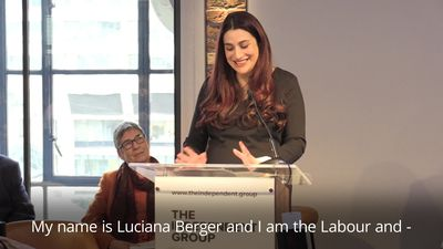 Luciana Berger introduces herself as Labour MP during resignation speech