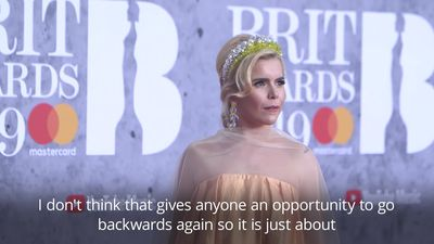 Paloma Faith happy with more female representation at the Brit Awards 2019