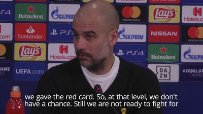 Guardiola says City 'not ready' for Champions League challenge
