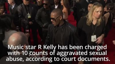 R Kelly charged with 10 counts of aggravated sexual abuse