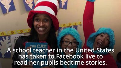 School teacher uses Facebook live to read to pupils