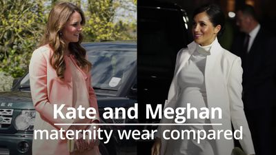 Meghan and Kate's maternity look compared