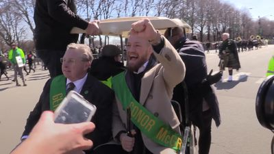 Conor McGregor and Leo Varadkar lead St Patrick's Day parade in Chicago