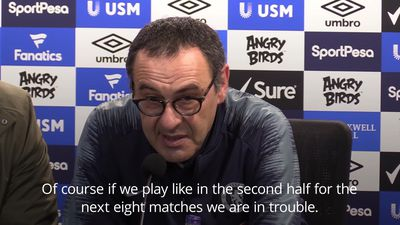 Maurizio Sarri concerned with Chelsea mentality after Everton defeat