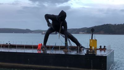 UK's largest cast bronze sculpture arrives in Plymouth