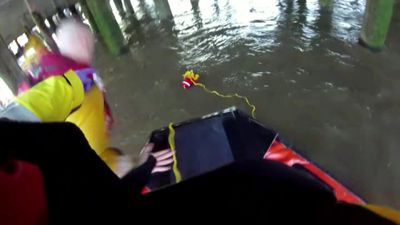 RNLI pluck struggling man from Thames