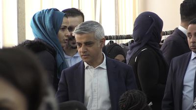 Sadiq Khan and Sajid Javid join solidarity event at Central London Mosque after New Zealand shooting