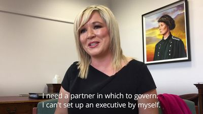 Michelle O'Neill discusses political impasse on anniversary of Martin McGuinness' death