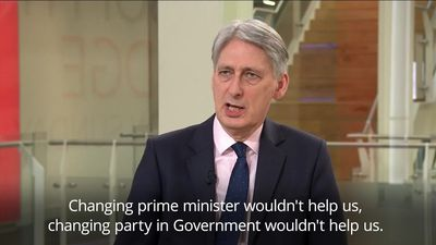 Chancellor: MPs allegedly plotting to oust PM are being self-indulgent