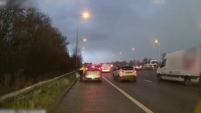 Motorway pile-up on M6 shows danger of driving too close other cars