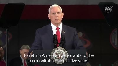 Mike Pence calls for US moon landing in the next five years