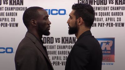 Amir Khan and Terence Crawford face off ahead of New York fight