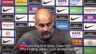 Guardiola: I've known Phil Foden was special since day one