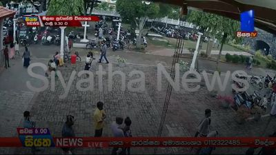 CCTV shows suspect moments before Sri Lankan church blast