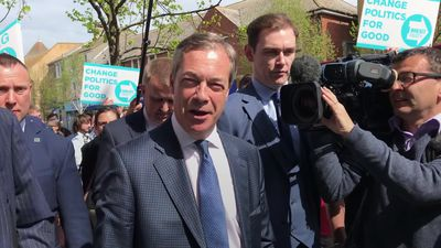 Nigel Farage rallies support for his new Brexit Party in Clacton-on-Sea