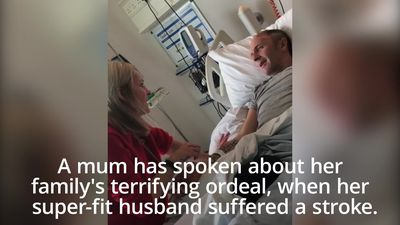 Mum-of-three speaks of ordeal after 'super-fit' husband suffers stroke