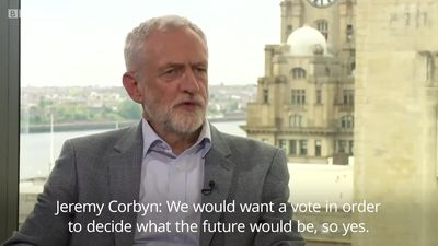 Jeremy Corbyn and Vince Cable on the option of a second Brexit Referendum