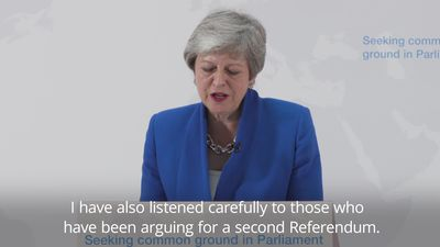 Theresa May: MPs will get vote on whether to hold second referendum Theresa May: MPs will get vote o