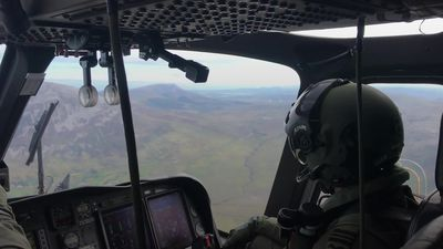 Ballot box delivered via helicopter on the island of Inishbofin