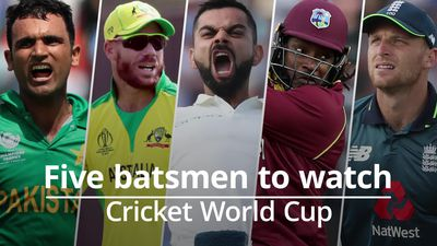 Cricket World Cup: Five batsmen to watch
