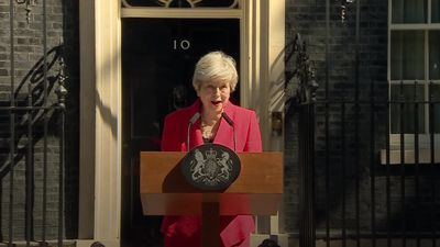 Theresa May announces she will stand down as Conservative leader