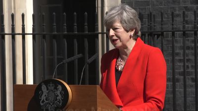 Theresa May gives emotional farewell as she announces her resignation