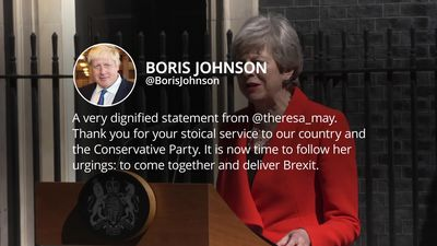 Politicians reacts to Theresa May's resignation