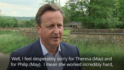 David Cameron: I feel desperately sorry for Theresa May
