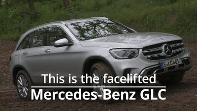 This is the facelifted Mercedes-Benz GLC