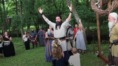 Catholic renounces faith to have Viking wedding