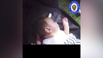 Dramatic footage shows police rescuing kidnapped baby