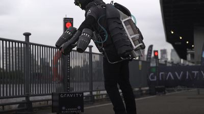 British company unveils jet suits ahead of planned race series