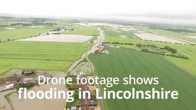 Drone footage of the floods in Lincolnshire
