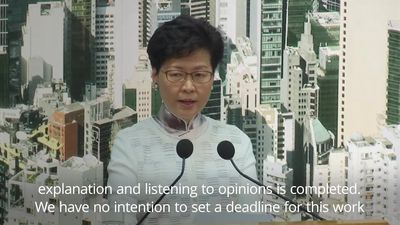 Hong Kong leader suspends extradition bill