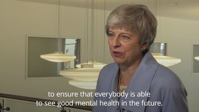 Theresa May: Mental health one of the key issues facing next PM