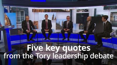 Tory leadership race: Five key quotes from the BBC debate