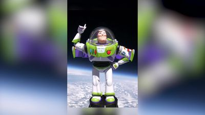 Buzz Lightyear launched into space for children's charity