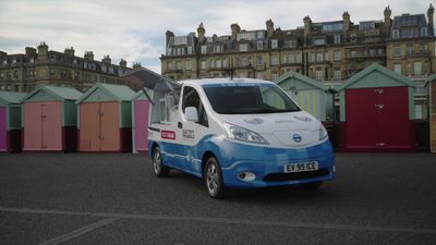Nissan reveals all-electric ice cream van