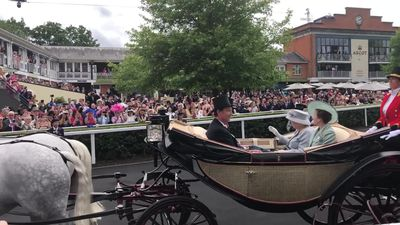Queen arrives for day three at Royal Ascot
