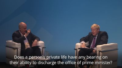 Boris Johnson dodges questions about police presence at his home