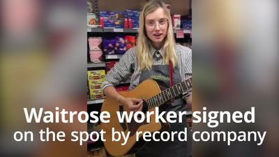 Waitrose worker signed by music manager after impromptu performance
